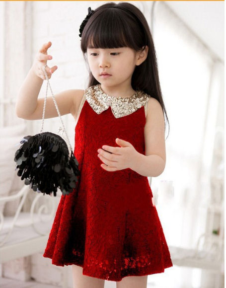 red-sequin-collar-dress